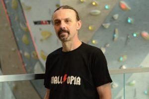 Ицо - инструктор по катерене в Walltopia climbing center